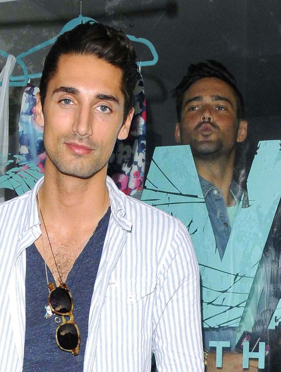 Image of Spencer Matthews Photobombs