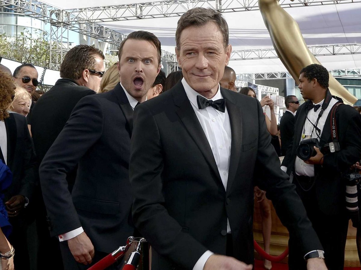 Image of Aaron Paul Photobomb