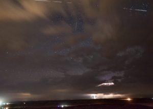 Image of ISS Photobombs Lightning Storm