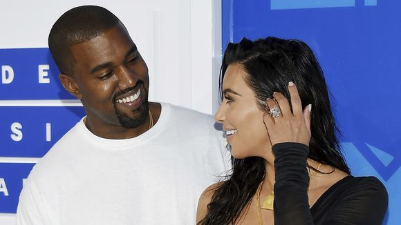Image of Kanye West Photobombs Kim Kardashian and Her Dog's Selfie