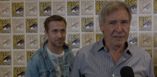 Image of Ryan Gosling Photobombs Harrison Ford