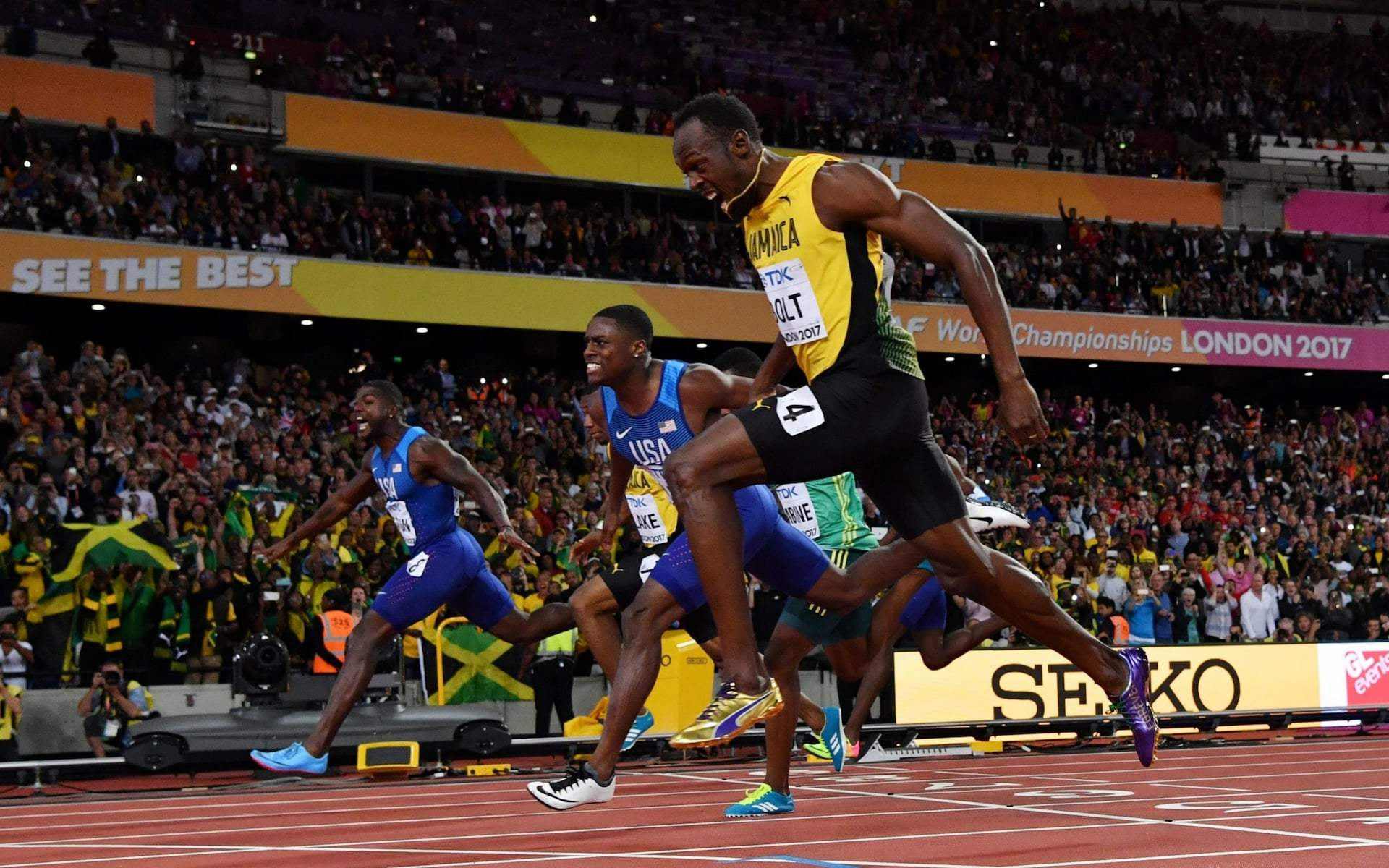 image of usain bolt and gatlin