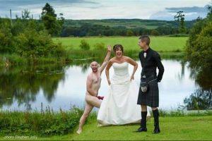 Image of wedding streaker