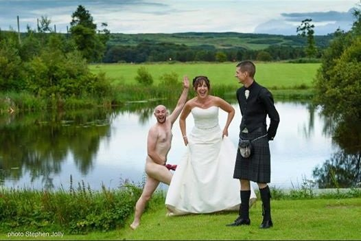 Image of wedding streaker