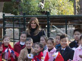 Image of Melania Trump and Panda