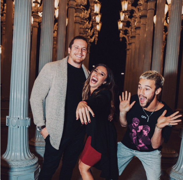 Image of Cameron Dallas and Sierra with her fiancee Brent Mallozzi