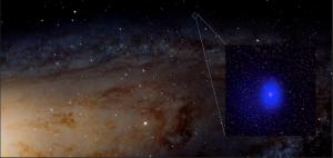 Image of Giant Black Holes Photombombs Andromeda