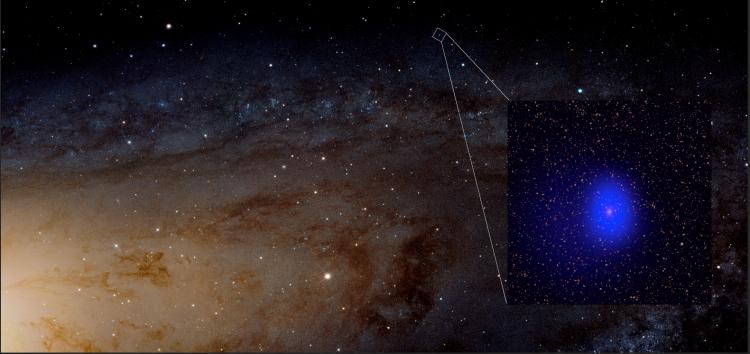 Image of Giant Black Holes Photombombs Andromeda