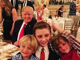 President Donald Trump Photobombs
